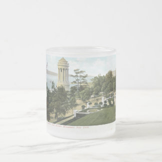Soldiers & Sailors Monument, New York City Vintage Frosted Glass Coffee Mug