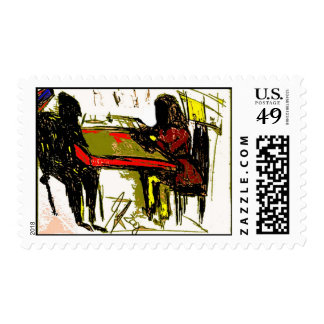 soldiers school girl postage stamp