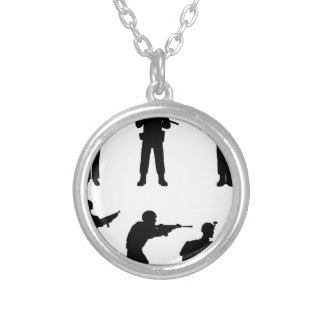 Soldiers Silver Plated Necklace
