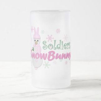 Soldiers SnowBunny Frosted Glass Beer Mug