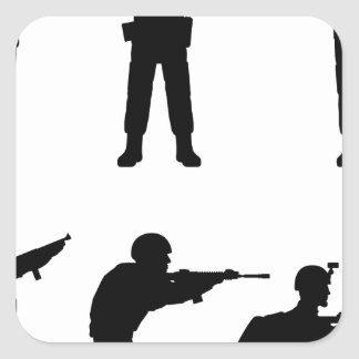 Soldiers Square Sticker