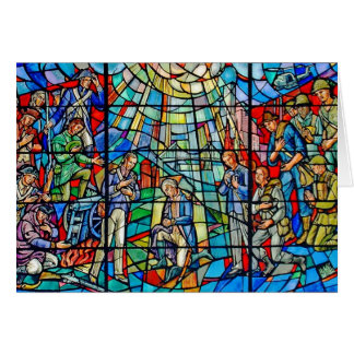 Soldiers' Stained Glass Card
