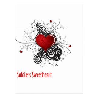 Soldiers Sweetheart Postcard