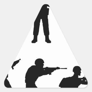 Soldiers Triangle Sticker