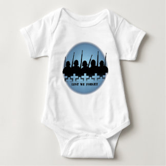 Soldiers Tribute Baby T-shirts Lest We Forget Top