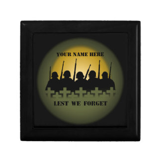 Soldiers Tribute Box Lest We Forget Custom Giftbox