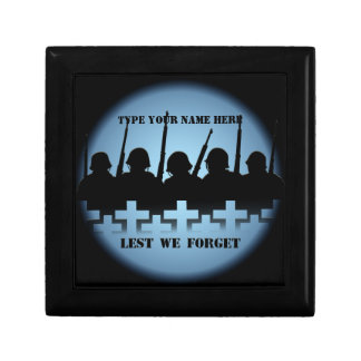Soldiers Tribute Box Lest We Forget Custom Giftbox Gift Boxes