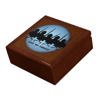 Soldiers Tribute Box Lest We Forget Keepsake Box