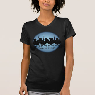 Soldiers Tribute Womens T-shirts Lest we Forget
