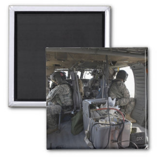 soldiers watch for hazards 2 inch square magnet