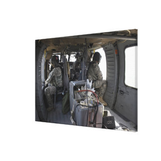 soldiers watch for hazards canvas print