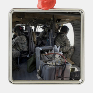 soldiers watch for hazards metal ornament