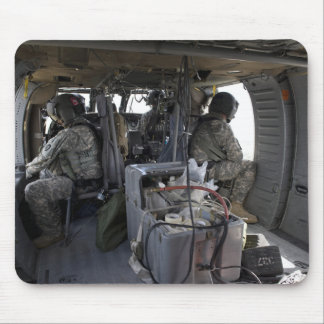 soldiers watch for hazards mouse pad