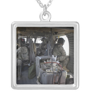 soldiers watch for hazards silver plated necklace