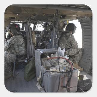 soldiers watch for hazards square sticker