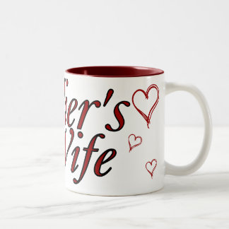 Soldier's Wife: Scribble Hearts Two-Tone Coffee Mug