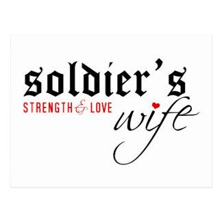 Soldier's Wife: Stength & Love Postcard