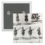 Soldiers with bayonets 2 inch square button