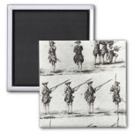 Soldiers with bayonets 2 inch square magnet