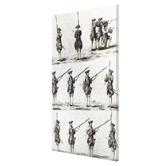 Soldiers with bayonets canvas print