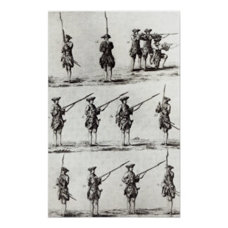 Soldiers with bayonets poster