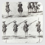 Soldiers with bayonets square sticker