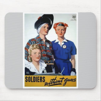 Soldiers without guns vintage poster mouse pad