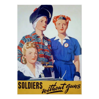 Soldiers Without Guns ~ Vintage World War 2. Poster