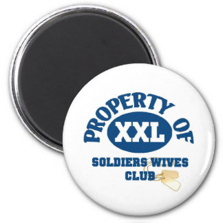 Soldiers Wives Club 2 Inch Round Magnet
