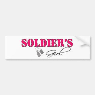 SoldiersGirl Car Bumper Sticker