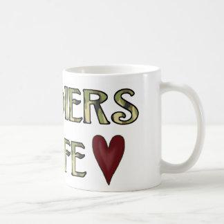 soldierswife classic white coffee mug
