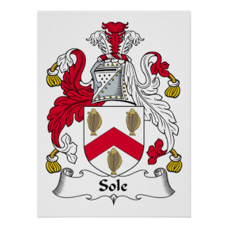 Sole Family Crest Posters