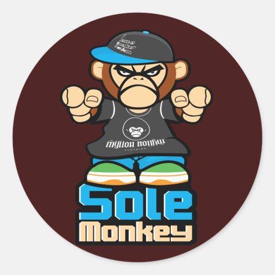 Sole Monkey Sticker