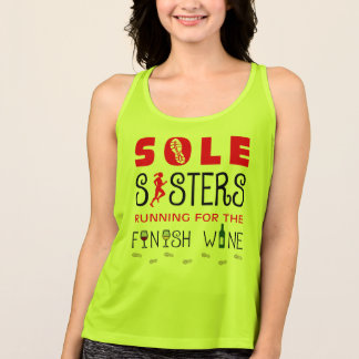 Sole Sisters Finish Wine - All Sport Tank Top