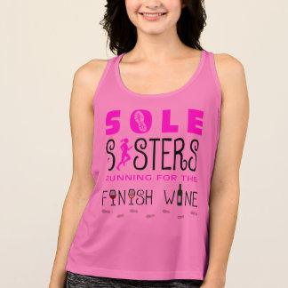 Sole Sisters Finish Wine - New Balance Tank Top