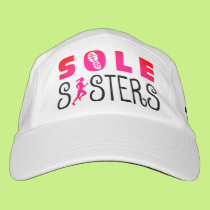 Sole Sisters Running for the Finish Wine Headsweats Hat