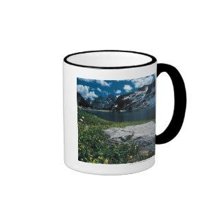 Soledad del lago, parque nacional magnífico de taza de dos colores