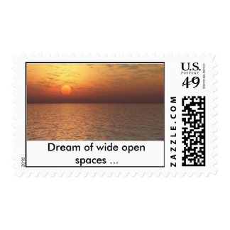 Soleil couchant_1(Full HD), Dream of wide open ... Postage Stamp