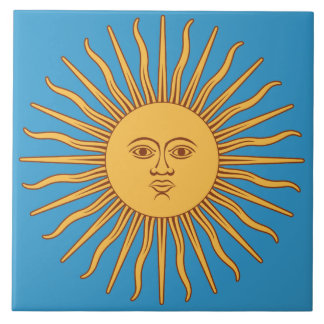Soleil Sun Azulejo Cuadrado Grande