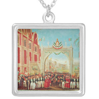 Solemn and Peaceful Entry of the Army Square Pendant Necklace
