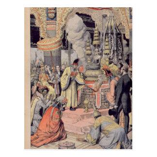Solemn cremation of King Norodom I Postcard