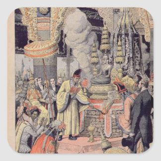 Solemn cremation of King Norodom I Square Sticker