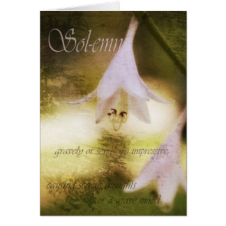 solemn greeting card