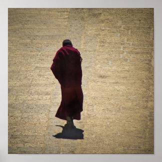 Solemn Monk Poster