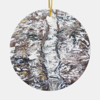 Solemn Passage (abstract expressionism) Ceramic Ornament