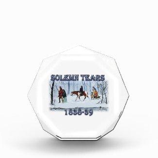 Solemn Tears depicting the Cherokee Trail of Tears Acrylic Award