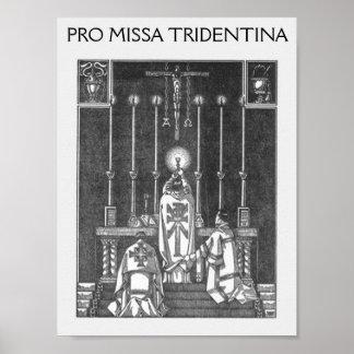 solemnis del missa, FAVORABLE MISSA TRIDENTINA Póster
