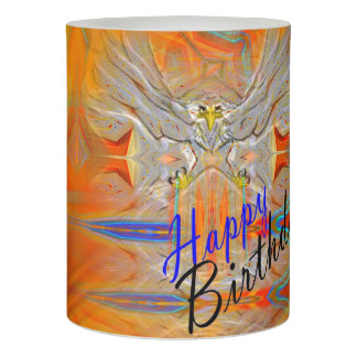Solemnly Eagle Upswing Rising Sun Birthday Candle