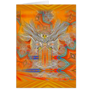 Solemnly Eagle Upswing Rising Sun Greeting Card