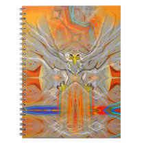 Solemnly Eagle Upswing Towards Rising Sun Notebook